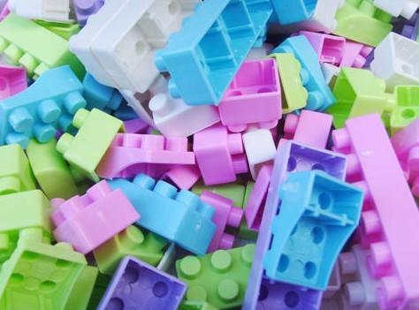 儿童益智--塑料积木玩具72片装