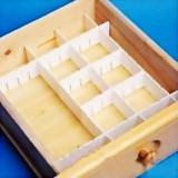 四片装9CM高大号插片式抽屉收纳隔板组合