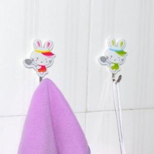韵美 小兔不锈钢挂钩(4枚装)0019