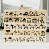 韩国花腰长款印章(5款)动物系列 房子