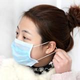 一次性医用防菌防尘2层口罩 蓝色50片 OPP袋装