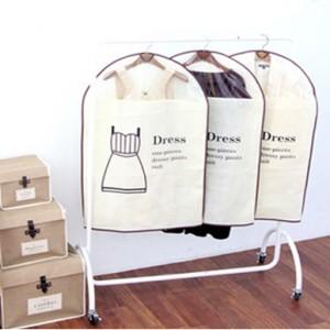 外贸原单 棉麻系列-衣套防尘罩三件套(小号米黄色)Dress