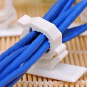大号自粘式墙面电线固定扣/走线夹/理线器--4枚装(536)