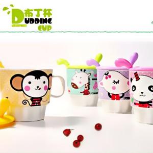 DIY动物布丁杯陶瓷杯水杯/杯子