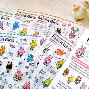 韩国2ndfloor㊣可爱兔女郎日记贴纸(6张)951510