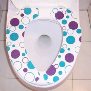 粘贴式马桶垫(蓝圆圈大号)