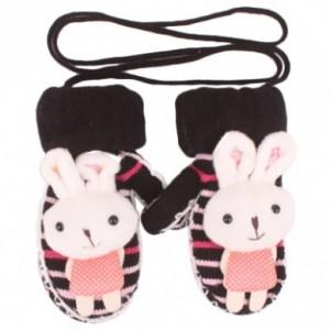 可爱兔子针织连指手套(黑色)686