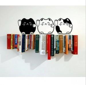 时尚墙贴-招财猫 黑色 21号