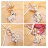 日韩流行--魅力佳人镶钻绸带珍珠俏皮小可爱熊韩国明星毛衣链(DZ0111)