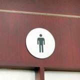 不锈钢粘贴式拉丝指示牌 正圆形男女厕 XX-2000 女厕