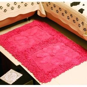 超强吸水防滑纯棉地垫(玫红)