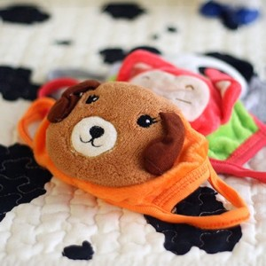 冬季保暖 动物防尘立体口罩(儿童款)QX-116 粉色猪