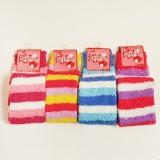 长款彩色条纹毛巾袜套