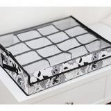 正品嘉居伴侣 秋逸乐章系列-时尚创意16格透明有盖内衣盒收纳整理箱