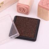 方盒彩色印泥(咖啡色)
