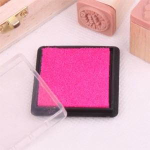 方盒彩色印泥(玫红色)