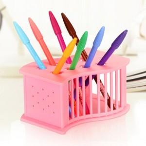 可挂式 多用途筷子笼 收纳架 粉色