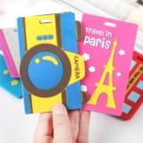 韩国卡通旅行箱行李牌 包包吊牌 托运牌 铁塔蓝色
