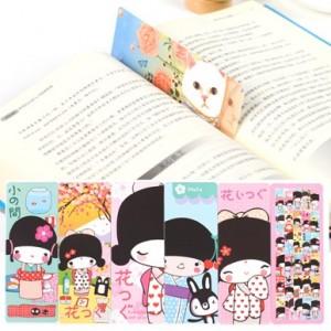 可爱创意卡通书签留言卡(4款)30张入 日本女孩