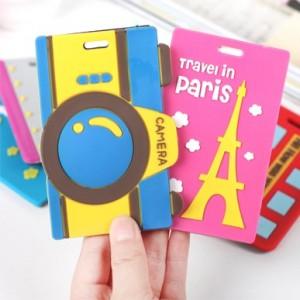 韩国卡通旅行箱行李牌 包包吊牌 托运牌 行李箱绿色