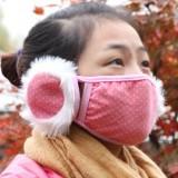 冬季防寒保暖口耳罩 点点耳罩 Q-099 黑色