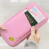 法蒂希Travelus 旅行随身多功能手拿收纳袋 卡包 钱包 粉红色