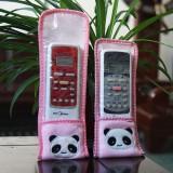 可爱卡通毛绒小动物 带透明覆膜遥控器保护罩/防尘套 加厚小号 熊猫