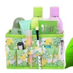 韩版多用途小碎花化妆品收纳盒/桌面收纳盒-绿色