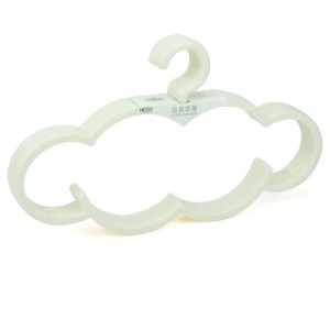 可爱云朵防滑无痕衣架/晾晒架--白色(5个装)