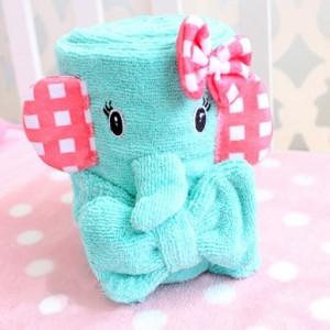 忧伤马戏团系列-超细纤维浴巾束发带2件套 绿色大象