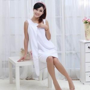 超细纤维 吸水柔软保暖百变魔术浴巾/浴袍-成人款 白色
