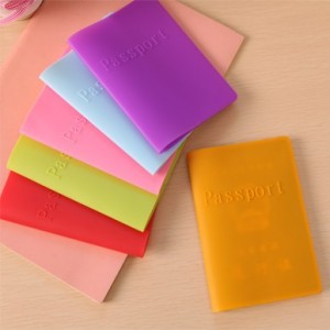 韩版可爱糖果色防尘防水硅胶护照套 紫色