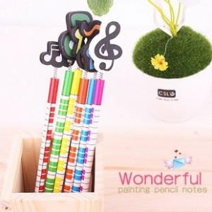 音符弹簧铅笔(一包6只售)