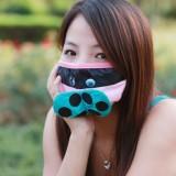 可爱卡通冬季保暖/防PM2.5/防雾霾/防尘口罩 (甲壳虫)BX0323 蓝色
