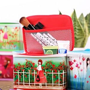 正品嘉居伴侣 田园风格化妆品桌面收纳盒 情系玫瑰园
