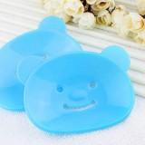 韩版小熊香皂盒/肥皂盒-蓝色
