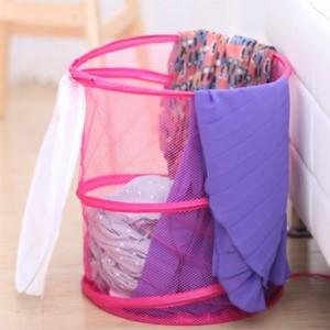 数字网桶带盖可折叠脏衣篮/洗衣篮 大红