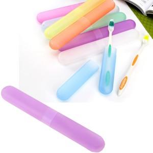 七彩糖果色磨砂便携式旅行防细菌牙刷盒-紫色 600个1箱