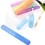 七彩糖果色磨砂便携式旅行牙刷盒-蓝色 600个1箱