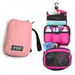 法蒂希 Travel mate|我的假期便携式化妆品收纳袋洗漱包 粉红色