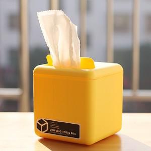可爱豆丁收纳盒纸巾盒卷纸纸巾抽家用纸巾盒抽纸盒 黄色
