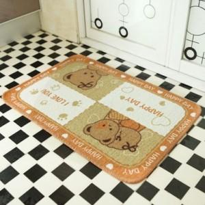韩版小熊入户脚垫浴室厨房防滑地垫 40*60cm 爱心熊