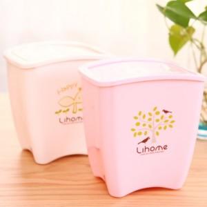 创意迷你桌面垃圾桶 726 粉色