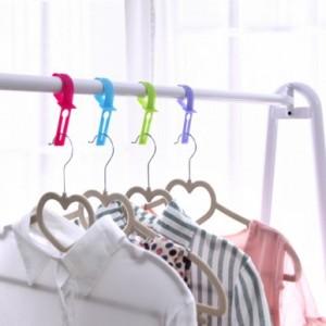居家必备户外防风衣架挂钩/防风锁/防风扣 二代升级版(1包10个) 紫色