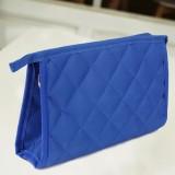 菱形格子防水化妆包(宝蓝色)8854A小号