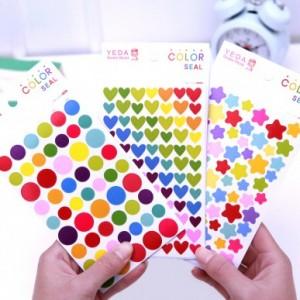 韩国FUNNY彩色DIY装饰贴纸(6张装) 五角星