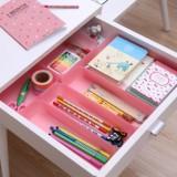 炫彩日式厨房/桌面/抽屉收纳盒(L) 粉色