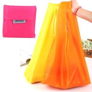 时尚便捷糖果色彩折叠购物袋(JBHBB)纯色款 米色
