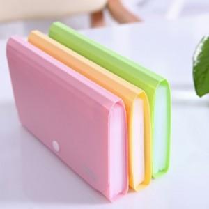 糖果色A6迷你风琴包/文件收纳包/票据包(12位)5561 绿色