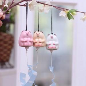 可爱小猪陶瓷风铃 SV13-676 白色
